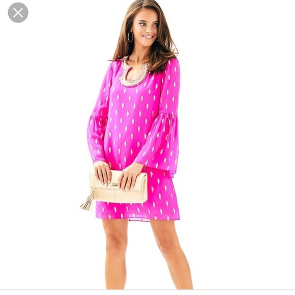 77e2500c81e695 Lilly Pulitzer Dresses | Nwt Amory Silk Dress Raz Berry 2 | Poshmark